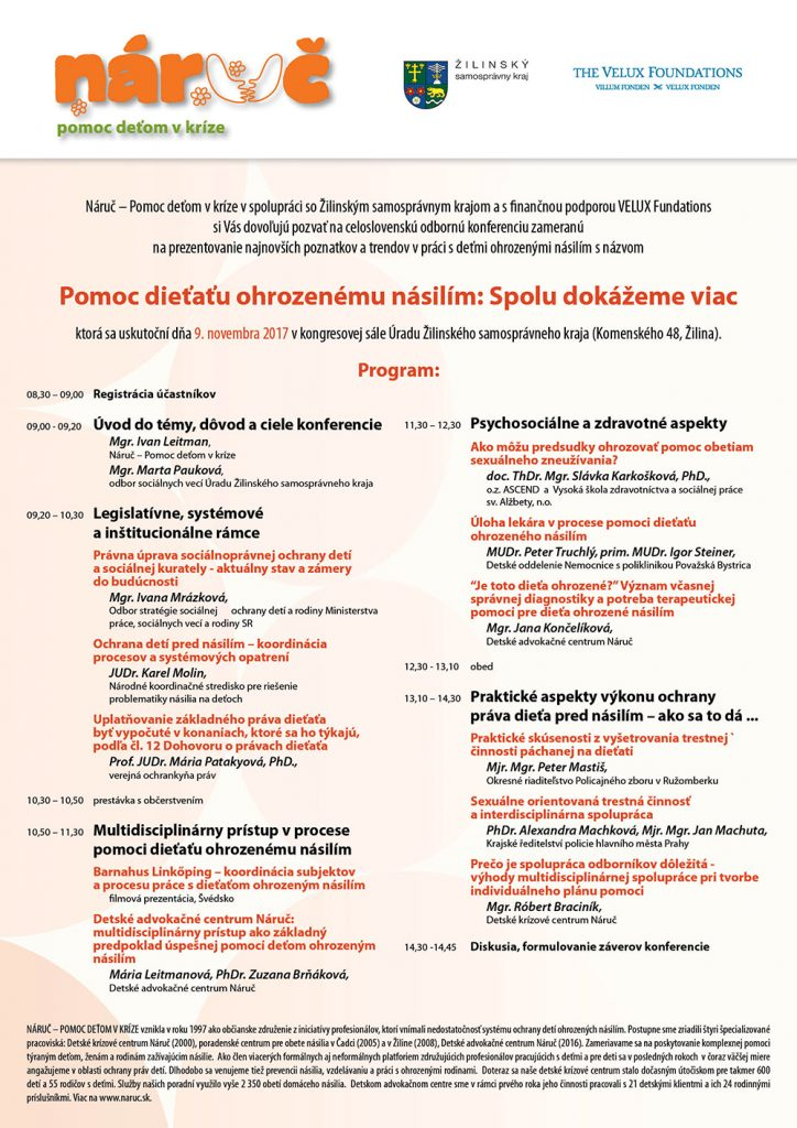 Spolu dokážeme viac_program konferencie